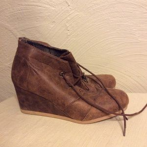 EUC Brown Wedge Shoes